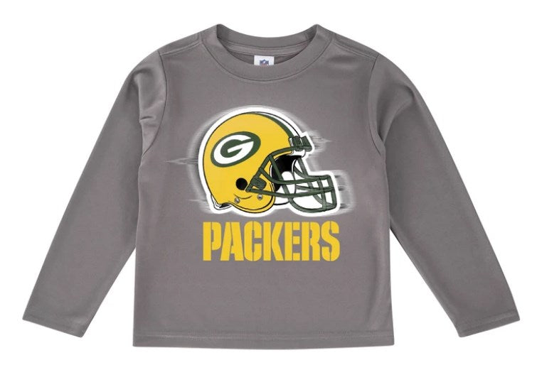Green Bay Packers Toddler Boys' Long Sleeve Logo Tee