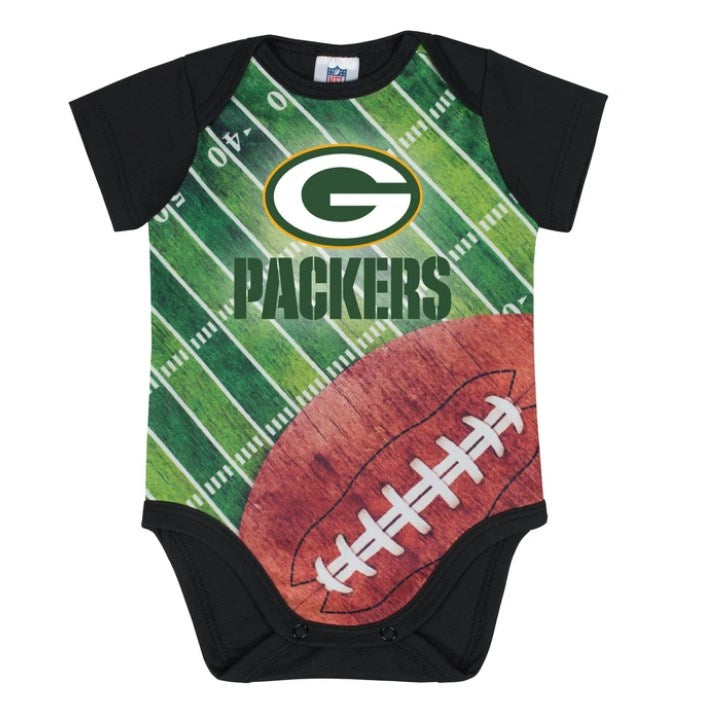 Green Bay Packers Baby Boy Short Sleeve Bodysuit