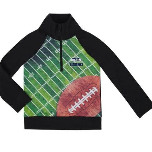 Seattle Seahawks Boys 1/4 Zip Jacket