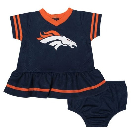 Denver Broncos Baby Girl Dress and Panty Set