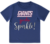 New York Giants Toddler Girls' Short Sleeve Tee