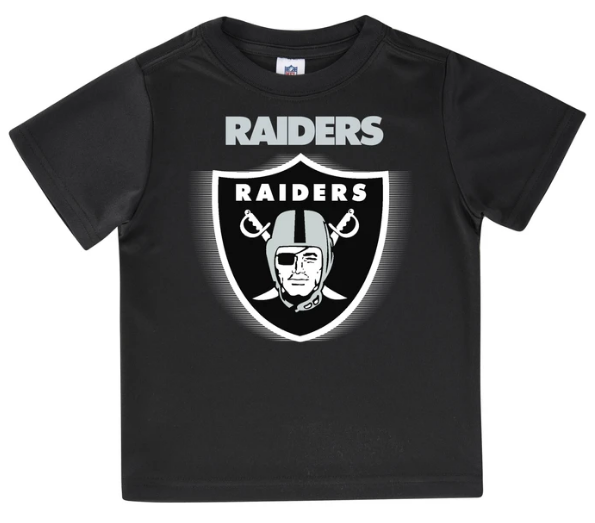 Oakland Raiders Toddler Boys' Short Sleeve Logo Tee