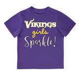 Minnesota Vikings Toddler Girls' Short Sleeve Tee