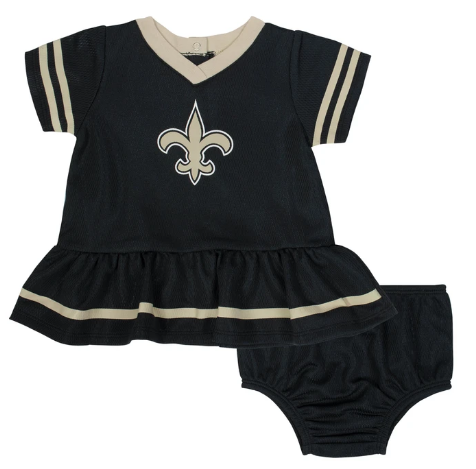 Baby Girls New Orleans Saints Cheerleader Dress and Panty Set