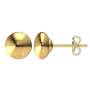 Classic 14K Solid Rose Gold Flat Ball Studs - Artsyjewels
