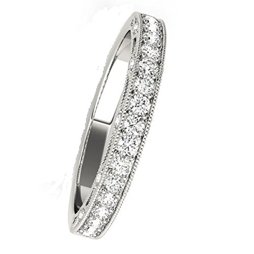 0.40 Carat Diamond Fabulous And Sleek Style Wedding Band In 14K Solid White Gold, Yellow Gold & Rose Gold - Artsyjewels