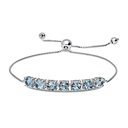 Classic Sterling Silver 5mm Adjustable Pull-String Bolo Slider Tennis Bracelet - Artsyjewels