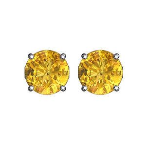 Beautiful Womens 5 mm Round Solitaire CZ Gemstone Birthstone Stud Earrings - Artsyjewels
