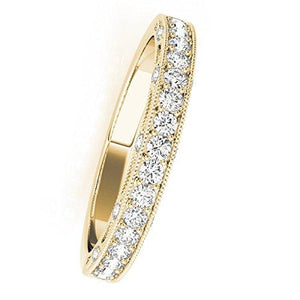 Stunning 0.40 Carat Diamond Fabulous And Sleek Style Wedding Band In 14K Solid Gold - Artsyjewels