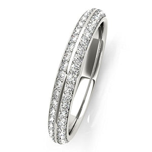 Stunning 1/4 Ct Round Diamond Unique Hand-Crafted Wedding Band In 10K Gold - Artsyjewels