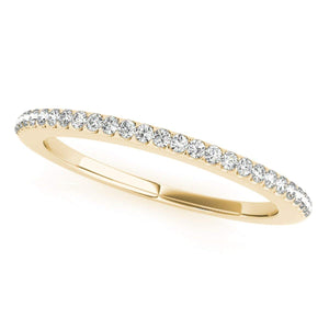 Stunning 0.14 Carat Halo Round Diamond Antique Wedding Band for Women 14 K Gold - Artsyjewels