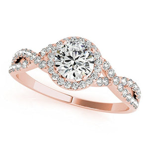 Classic 0.50 Carat Diamond Ring with Band in 14K Gold - Artsyjewels