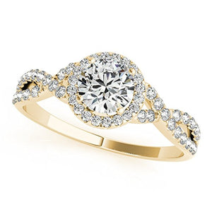 0.50 Carat Diamond Ring with Band in 14K Gold - Artsyjewels