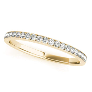 0.20 Carat Round Diamond Wedding Band In 14K Solid Rose, White & Yellow Gold - Artsyjewels