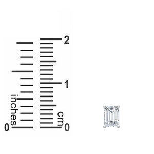 Beautiful 0.33 CT TW Emerald Cut Solitaire Earrings in  14kt White Gold