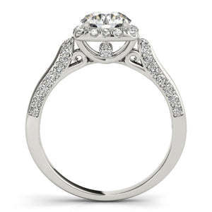 Custom Design Engagement Diamond Ring Crafted Ring In Solid Gold 1 Carat Halo