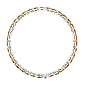 Beautiful Cushion Cut 5mm Tennis Bracelet for Women in Multiple Gemstones - Artsyjewels
