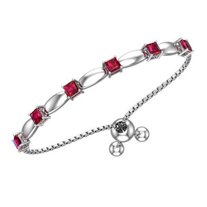 Classic Solid Sterling Silver 4mm Gemstone (Multiple Gemstone) Bracelet with Silicon Bead Clasp - Artsyjewels