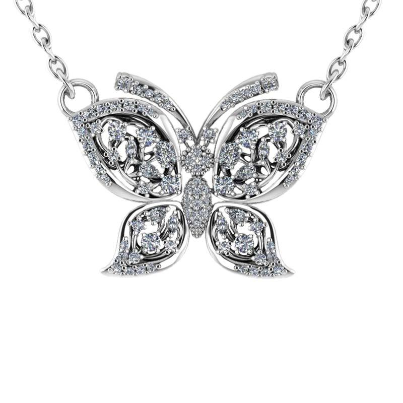 Sweet butterfly necklace featuring a filigree silhouette