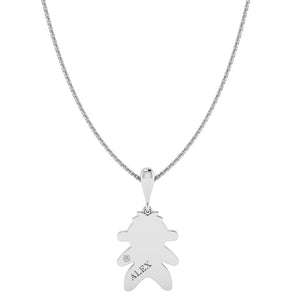 Silver Engraved Baby Boy Necklace