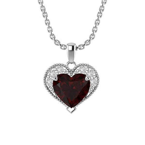 "Pretty Sterling Silver Winona Heart Necklace with 18"" Chain for Mother's Day"