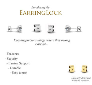 Classic 1.00 CTW SGL Certified Lab Grown Diamond Stud Earring in 14k White Gold