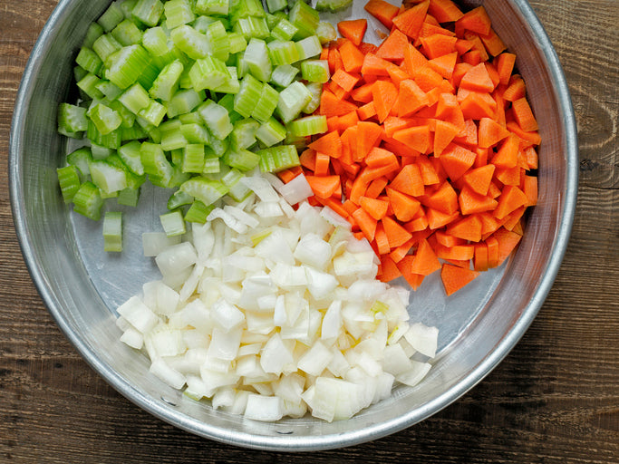 Mirepoix Bundle, some ingredients LOCAL!