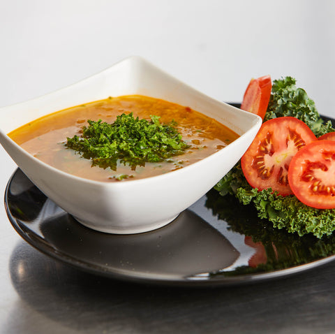 Lentil and Wilted Kale Soup, Seasonal