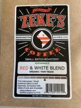 Zekes Organic Coffee, 1 pound, LOCAL!