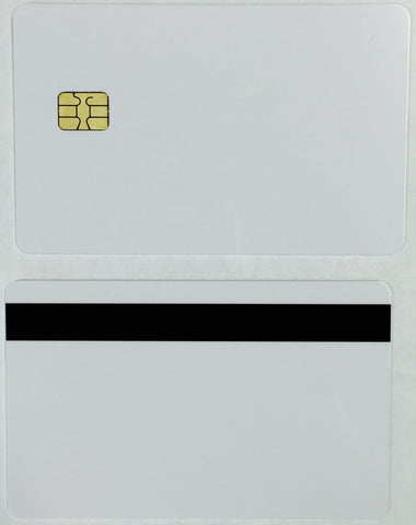 SLE4442 Secure Memory Smart Card with Track 2 HICO Mag (White PVC Cards)