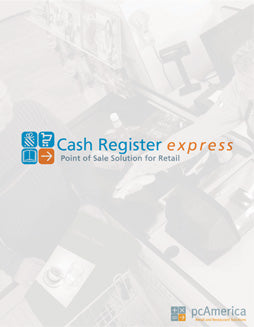 PC AMERICA, SINGLE TERMINAL, PROFESSIONAL EDITION OF CASH REGISTER EXPRESS WITH CUSTOMER TRACKING
