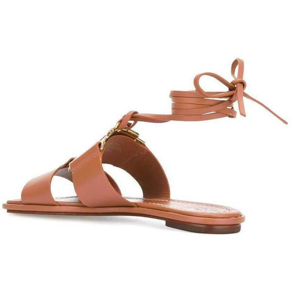 Tory Burch Gemini Link Lace up Sandals - Fitfineandfabulous.com