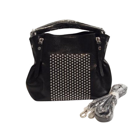 """NYAH"" Leather Crossbody Handbag - Fitfineandfabulous.com"