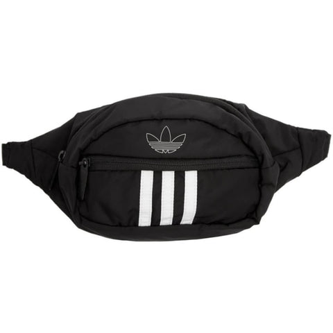Adidas Black 3 Stripes Pouch - Fitfineandfabulous.com