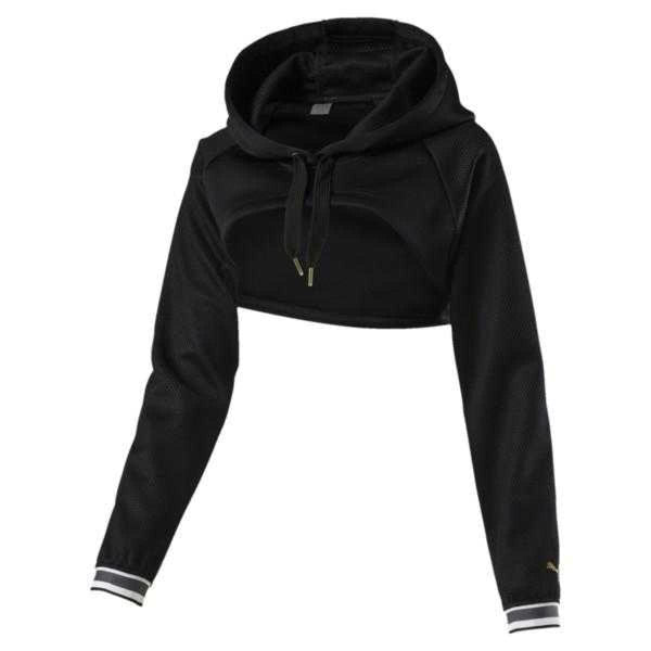 Puma Varsity Cropped Cover-Up Women's Hoodie - Fitfineandfabulous.com