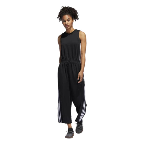 Adidas Womens Cropped Leg Snap Romper/Jumpsuit - Fitfineandfabulous.com