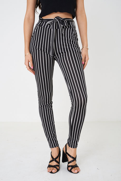 High Waist Legging in Stripes