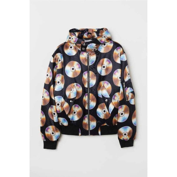 H & MOSCHINO Lightly padded bomber jacket in satin - Fitfineandfabulous.com