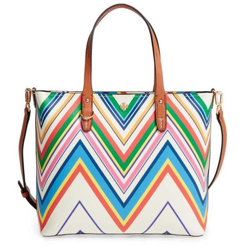Tory Burch Kerrington Print Small Tote - Fitfineandfabulous.com