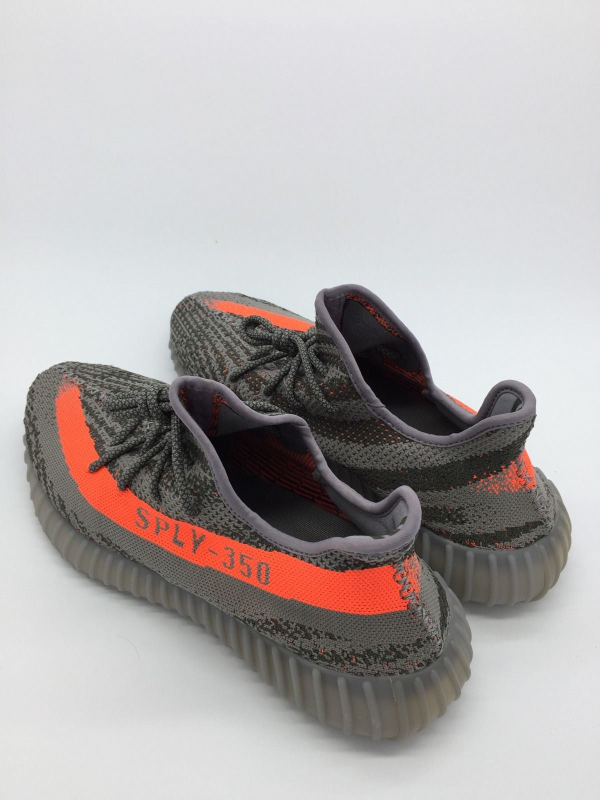 c46c64268ff Mens Adidas Yeezy 350 Boost V2 SPLY Beluga Steel Grey Solar Red BB1826 ...