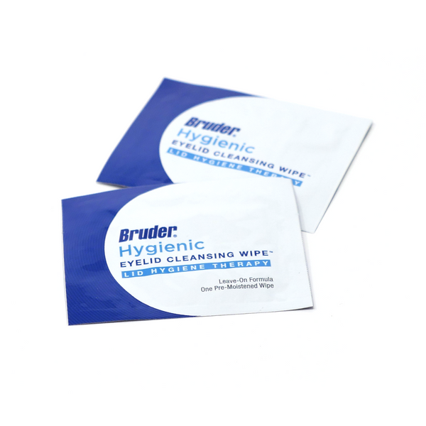 Bruder Hygienic Eyelid Cleansing Wipes.