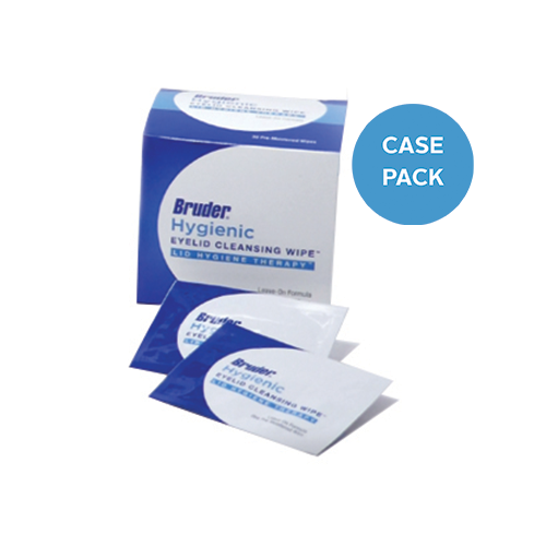 Bruder Hygienic Eyelid Cleansing Wipes. Case Pack.