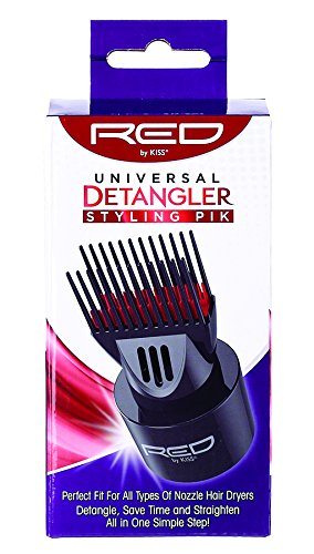 Red by Kiss Universal Detangling Blow Dryer Hair Styling Pik – Compatible with all Hair Dryers