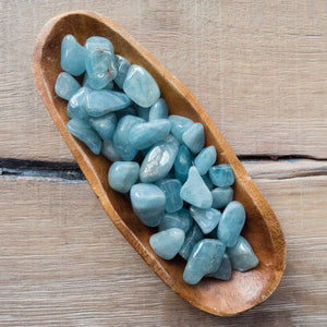 Blue Beryl (Aquamarine) - Tumbled - 3 pack