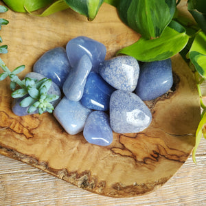 Blue Moss Chalcedony Tumbled Stones