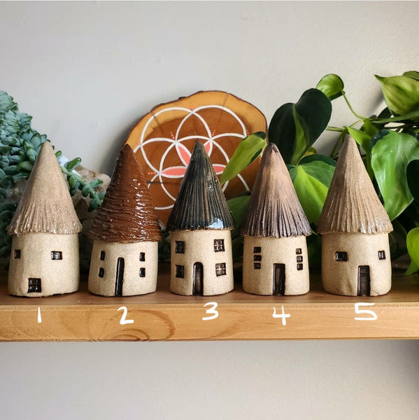 Ceramic Witchy Faerie House
