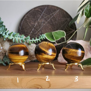 Tiger Eye Spheres (AAA)