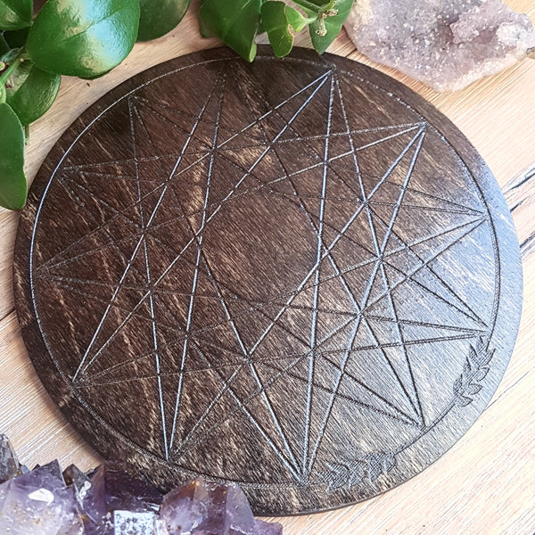 Circular Java Dodecagram Crystal Grid