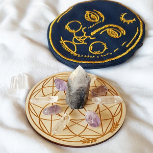 Pre-Order: Full Moon Crystal Grid Pouch