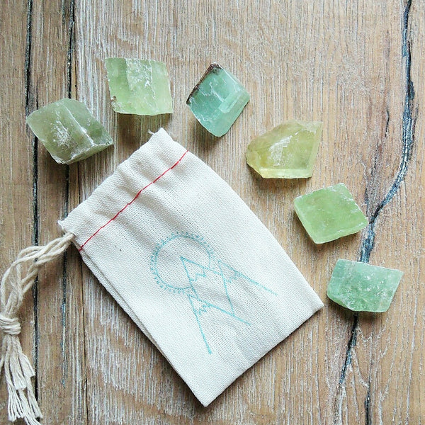 Calcite (Green) - Raw - 6 pack